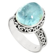Natural untreated blue topaz 925 sterling silver ring size 8 m35919