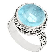 925 sterling silver natural untreated blue topaz ring size 7 m35920