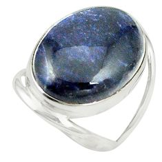 Natural blue sodalite 925 sterling silver ring jewelry size 6.5 m38148