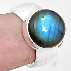 Natural blue labradorite 925 sterling silver ring jewelry size 5.5 m44899