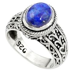 Natural blue sodalite 925 sterling silver ring jewelry size 6.5 m45838