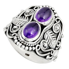925 sterling silver 3.53cts natural purple amethyst ring jewelry size 7 r10340