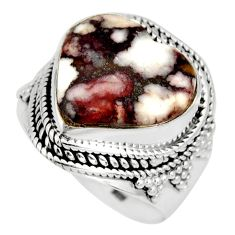 11.62cts natural wild horse magnesite 925 silver solitaire ring size 8 r10585