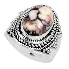 5.42cts natural bronze wild horse magnesite silver solitaire ring size 7 r10587