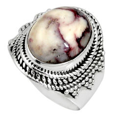 7.02cts natural wild horse magnesite 925 silver solitaire ring size 8 r10591