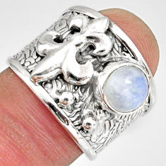 2.50cts natural rainbow moonstone 925 silver solitaire ring size 7 r10697