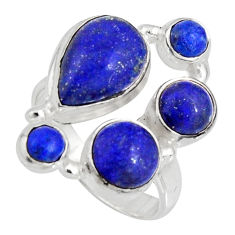 8.03cts natural blue lapis lazuli 925 sterling silver ring jewelry size 7 r10922