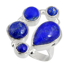 8.03cts natural blue lapis lazuli 925 sterling silver ring jewelry size 7 r10924