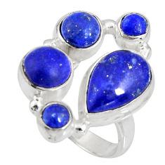 8.03cts natural blue lapis lazuli 925 sterling silver ring jewelry size 7 r10927