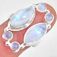 14.88cts natural rainbow moonstone 925 sterling silver ring size 8 r10966