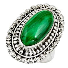 8.70cts natural green malachite 925 silver solitaire ring size 7 r11458