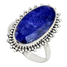 9.47cts natural blue sapphire 925 silver solitaire ring jewelry size 7.5 r11462