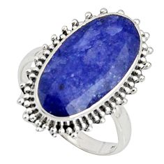 9.47cts natural blue sapphire 925 silver solitaire ring jewelry size 8.5 r11466