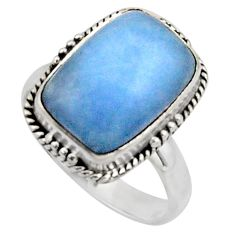 6.58cts natural blue owyhee opal 925 silver solitaire ring jewelry size 8 r11543