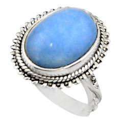 925 silver 8.13cts natural blue owyhee opal solitaire ring size 8.5 r11544