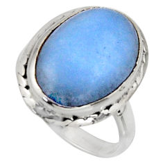 9.54cts natural blue owyhee opal 925 silver solitaire ring jewelry size 7 r11548