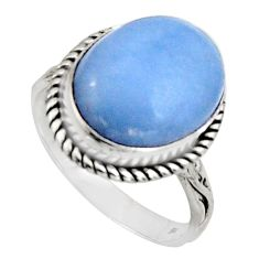 9.11cts natural blue owyhee opal 925 silver solitaire ring jewelry size 9 r11549