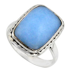 925 silver 9.04cts natural blue owyhee opal solitaire ring jewelry size 8 r11551
