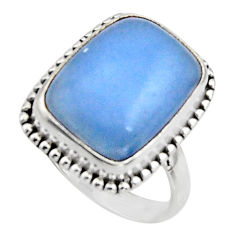 10.60cts natural blue owyhee opal 925 silver solitaire ring size 7.5 r11556