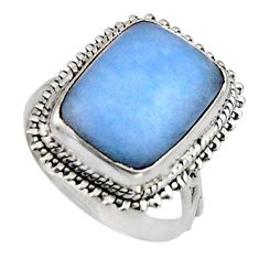 9.42cts natural blue owyhee opal 925 silver solitaire ring jewelry size 8 r11558