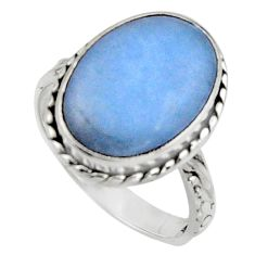 9.29cts natural blue owyhee opal 925 silver solitaire ring jewelry size 8 r11559