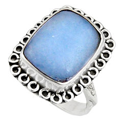 925 silver 9.99cts natural blue owyhee opal solitaire ring size 7.5 r11560