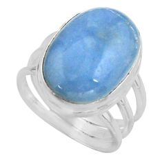925 silver 13.71cts natural blue owyhee opal oval solitaire ring size 7.5 r11584