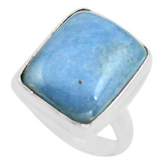 925 silver 13.79cts natural blue owyhee opal solitaire ring size 8.5 r11588