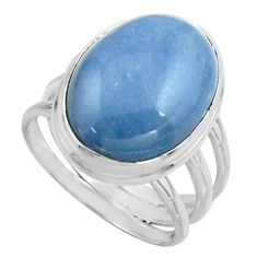 13.03cts natural blue owyhee opal 925 silver solitaire ring size 8 r11593