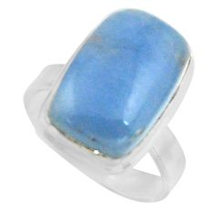 10.60cts natural blue owyhee opal 925 silver solitaire ring size 7 r11594