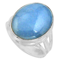 925 silver 13.16cts natural blue owyhee opal solitaire ring size 7.5 r11595