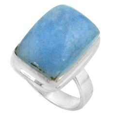 10.51cts natural blue owyhee opal 925 silver solitaire ring size 7 r11596