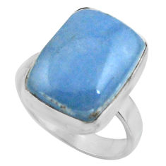 925 silver 12.42cts natural blue owyhee opal solitaire ring size 8 r11599