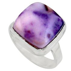 9.05cts natural purple tiffany stone 925 silver solitaire ring size 7 r11634