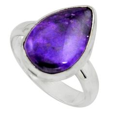 5.11cts natural purple sugilite 925 silver solitaire ring size 6.5 r11749