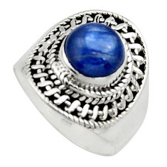 3.01cts natural blue kyanite 925 sterling silver solitaire ring size 7 r12963