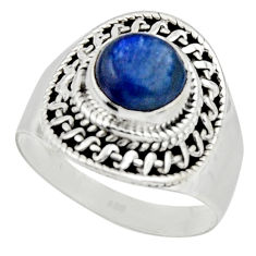 3.01cts natural blue kyanite 925 sterling silver solitaire ring size 8.5 r12966