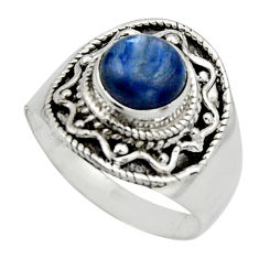 3.41cts natural blue kyanite 925 sterling silver solitaire ring size 9 r12977