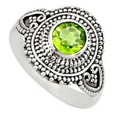 925 silver 1.21cts natural green peridot solitaire ring jewelry size 7 r13015