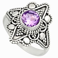 925 silver 1.16cts natural purple amethyst solitaire ring jewelry size 6 r13049