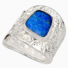 4.11cts natural doublet opal australian 925 silver adjustable ring size 9 r13131