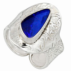 925 silver 3.58cts natural doublet opal australian adjustable ring size 9 r13168