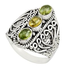3.24cts natural multi color tourmaline 925 sterling silver ring size 9 r13182