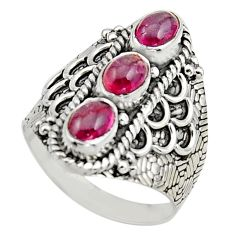 925 sterling silver 3.41cts natural multi color tourmaline ring size 7.5 r13191