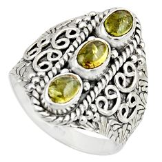 3.23cts natural multi color tourmaline 925 sterling silver ring size 9 r13192