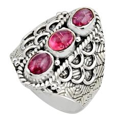 925 sterling silver 3.29cts natural multi color tourmaline ring size 7.5 r13199