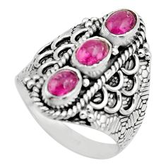 925 sterling silver 3.29cts natural multi color tourmaline ring size 8 r13208