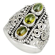 3.14cts natural multi color tourmaline 925 sterling silver ring size 8.5 r13217