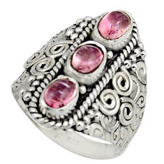 925 sterling silver 3.06cts natural multi color tourmaline ring size 7.5 r13219