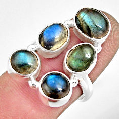 10.15cts natural blue labradorite 925 sterling silver ring jewelry size 7 r13646